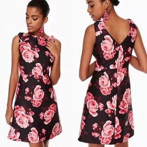 Kate Spade Floral Rosa A-Line Rambling Roses Dress